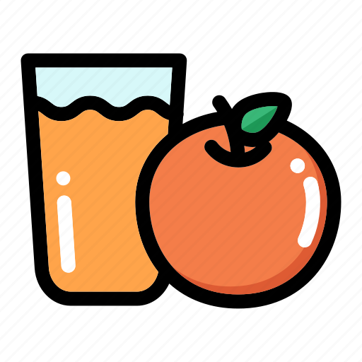 drink, fruit, healthy food, orange juice, organic icon