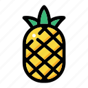 fresh fruit, fruit, pineapple fruit, pineapple juice, tropical icon