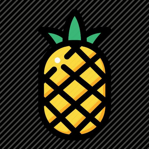 fresh fruit, fruit, pineapple fruit, pineapple juice, tropical icon