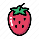 fresh fruit, fruit, organic fruit, strawberry, strawberry fruit icon