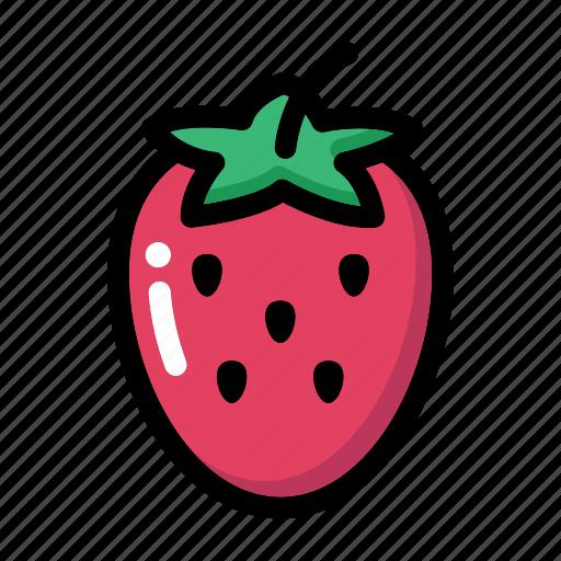 Fresh fruit, fruit, organic fruit, strawberry, strawberry fruit icon - Download on Iconfinder