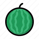 healthy food, organic, vegan, vegetarian, watermelon icon
