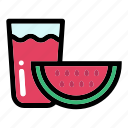 drink, fresh, healthy food, organic, watermelon juice icon