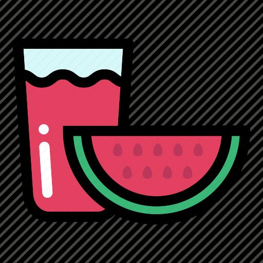 drink, fresh, healthy food, organic, watermelon juice icon