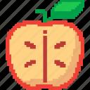 apple, food, fruit, healthy, slice icon