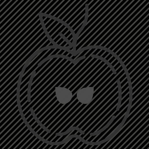 apple, fresh, fruit, health icon