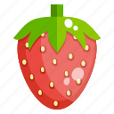 fruit, healthy food, fresh strawberry, strawberry, healthy diet icon