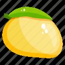 mango, fruit, healthy food, fresh fruit, edible, healthy diet icon
