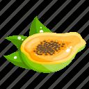 edible, fresh fruit, fruit, healthy diet, healthy food, papaya icon