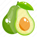 alligator pear, avocado, avocado pear, fruit, fruitsapodilla, pear icon