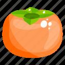 fruit, persimmon, edible, fresh fruit, healthy food, healthy diet icon
