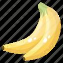 bananas, diet, edible, fruit, healthy food, nutritious icon