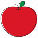 apple, food, fruits icon