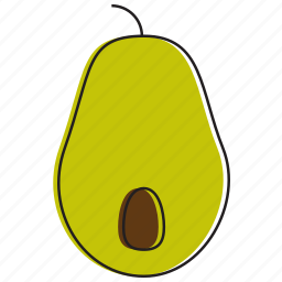 avocado, food, fruits icon