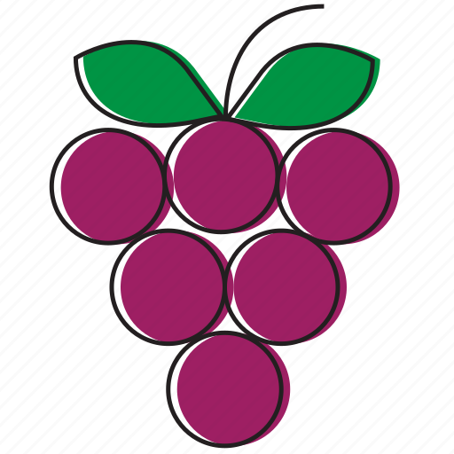 food, fruits, grapes icon
