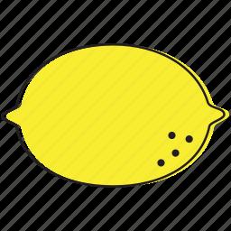 food, fruits, lemon icon