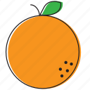 food, fruits, orange icon
