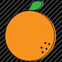 food, fruits, orange icon