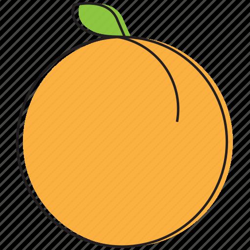 food, fruits, peach icon