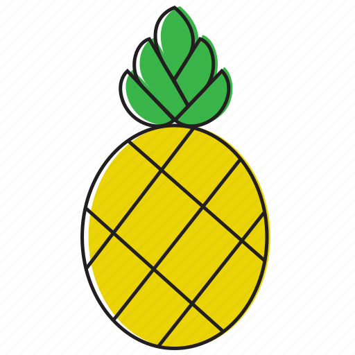 food, fruits, pineapple icon