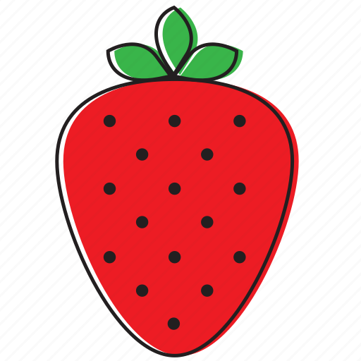 food, fruits, strawberry icon