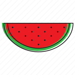 food, fruits, watermelon icon