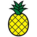 abacaxi, fruit, icon, pineapple, pineapples icon