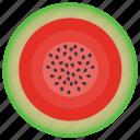 food, fruit, juicy, summer fruit, watermelon icon