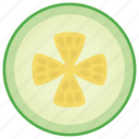 cucumber, food, healthy diet, raw food, vegetable food icon