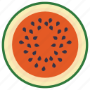 food, fruit, healthy fruit, juicy, watermelon icon