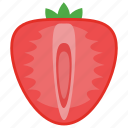 food, fruit, healthy fruit, strawberry, sweet fruit icon