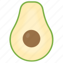 avocado, berry fruit, food, fruit, healthy diet icon