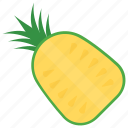 food, fruit, healthy fruit, peeled, pineapple icon