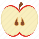 apple, food, fruit, healthy, tropical fruit icon