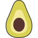 avocado, fruit icon