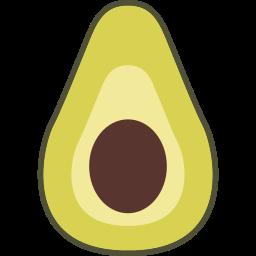 avocado, fruit icon