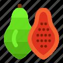 cooking, dessert, food, fruit, gastronomy, papaya icon, vegetable icon