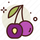 cherry, food, fresh, healthy, juice icon