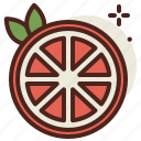 food, fresh, grapefruit, healthy, juice icon