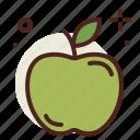 apple, food, fresh, green, healthy, juice icon