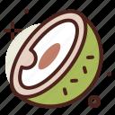 coconut, food, fresh, green, healthy, juice