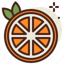 food, fresh, healthy, juice, orange icon