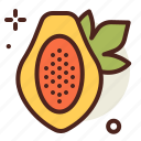 food, fresh, healthy, juice, papaya icon