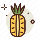 food, fresh, healthy, juice, pinapple icon