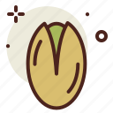 food, fresh, healthy, juice, pistachio icon