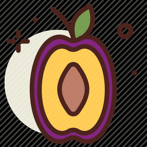 food, fresh, healthy, juice, plum icon