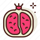 food, fresh, healthy, juice, pomegranate icon