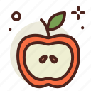 apple, food, fresh, healthy, juice, red icon