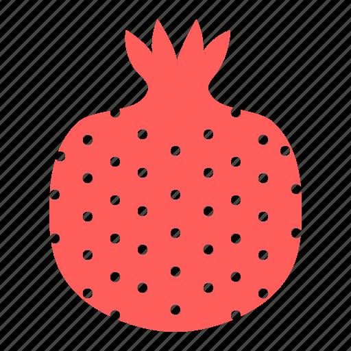 fruit, pom, pomegranate, seeds icon