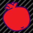 food, fruit, garnet, pomegranate